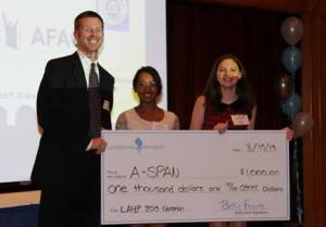 LAYP give's $1,000 to A-SPAN